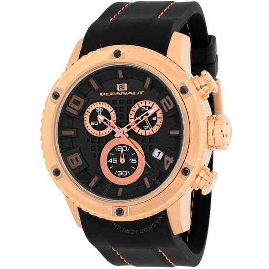 Oceanaut Impulse Sport Chronograph Quartz Black Dial Men's Watch OC3122R | Joma Shop