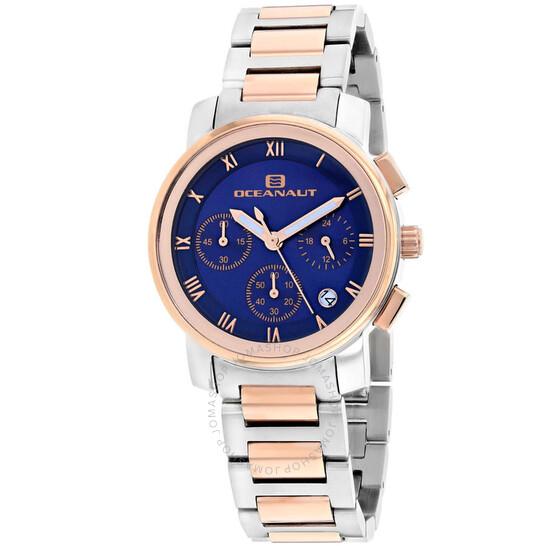 Oceanaut Riviera Chronograph Quartz Blue Dial Ladies Watch OC0638 | Joma Shop