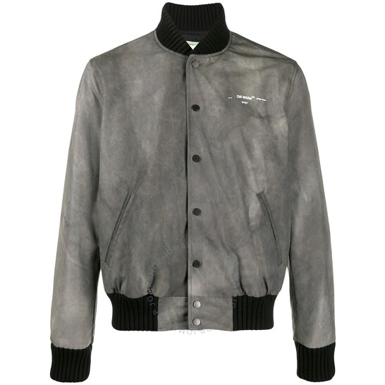 Off-White Black / Multi Airport Tape Denim Jacket
