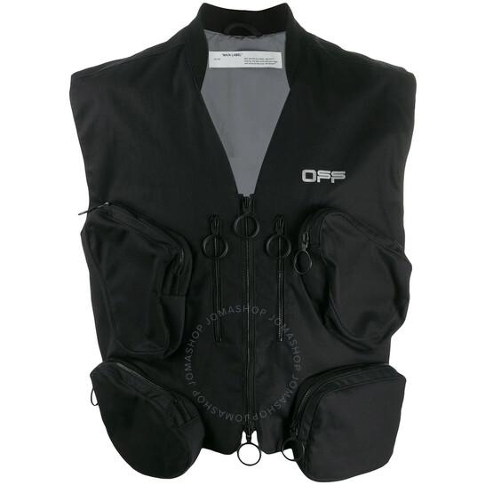 Off-White Black / Silver Tactical Multipocket Vest