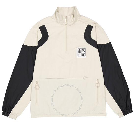 Off-White Light Grey Journey Zipped Sweatshirt, Brand Size Medium