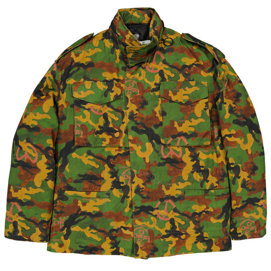 Off-White Multicolor Camouflage Padded Field Jacket