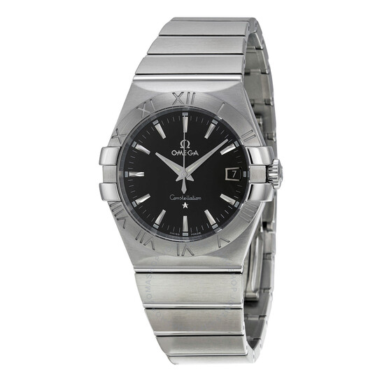 Omega Constellation 09 Quartz Black Dial Men's Watch 123.10.35.60.01.001   Joma Shop