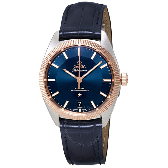 Omega Constellation Automatic Blue Dial Blue Leather Men's Watch 130.23.39.21.03.001   Joma Shop