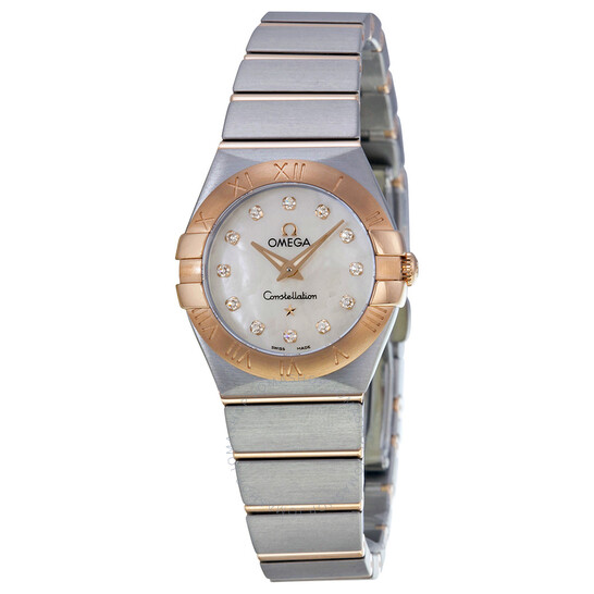 Omega Constellation Diamond Mother of Pearl Dial Ladies Watch 123.20.24.60.55.001 | Joma Shop