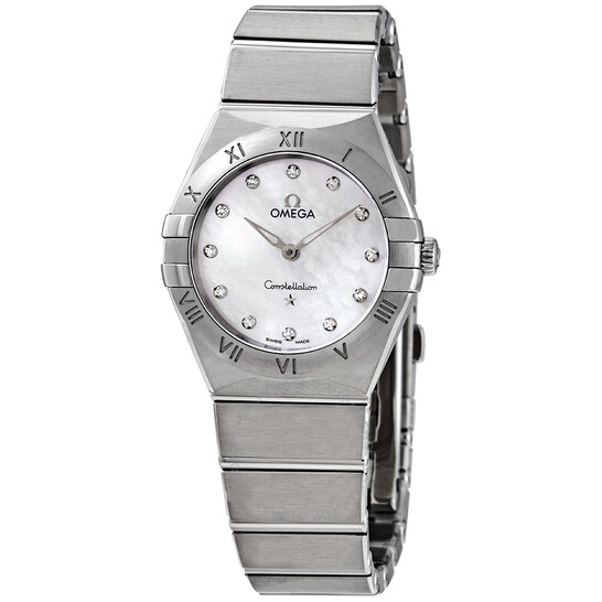 Omega Constellation Manhattan Diamond Mother of Pearl Dial Ladies Watch 131.10.28.60.55.001 | Joma Shop