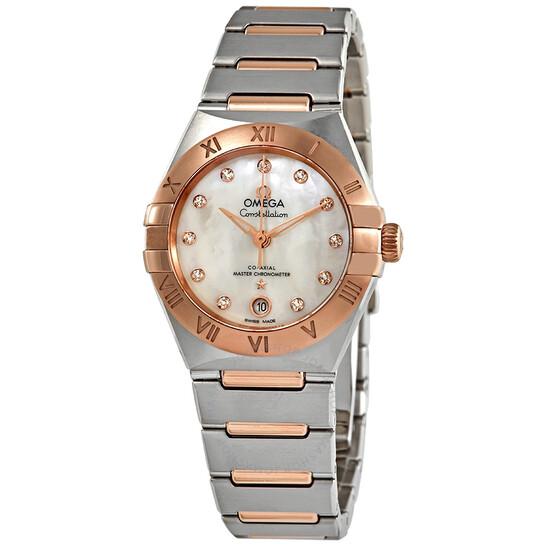 Omega Constellation Manhattan Co-Axial Master Chronometer Mother of Pearl Diamond Dial 29 mm Ladies Watch 131.20.29.20.55.001 | Joma Shop