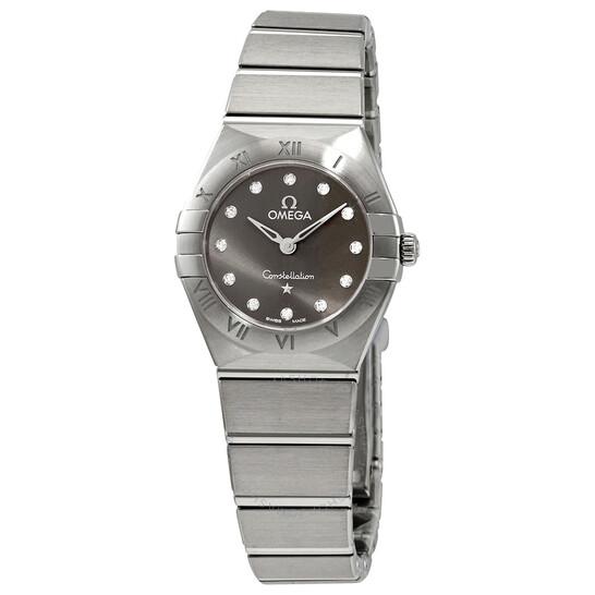 Omega Constellation Manhattan Diamond Grey Dial Ladies Watch 131.10.25.60.56.001   Joma Shop