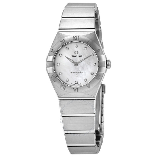 Omega Constellation Manhattan Quartz Diamond White Mother of Pearl Dial Watch 131.10.25.60.55.001   Joma Shop