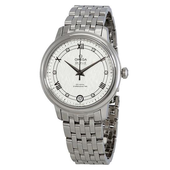 Omega De Ville Automatic Diamond Silver Dial Ladies Watch 424.10.33.20.52.002   Joma Shop