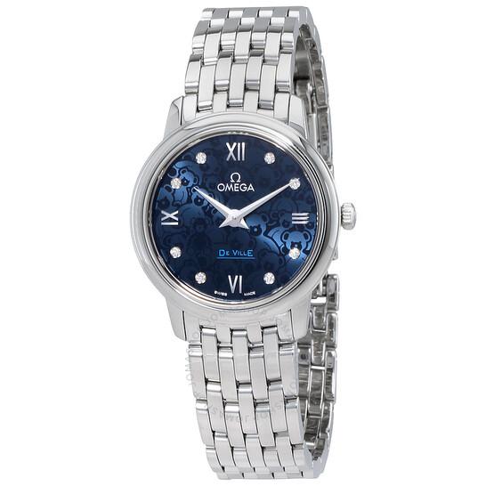 Omega De Ville Blue Dial Diamond Ladies Watch 424.10.27.60.53.003   Joma Shop