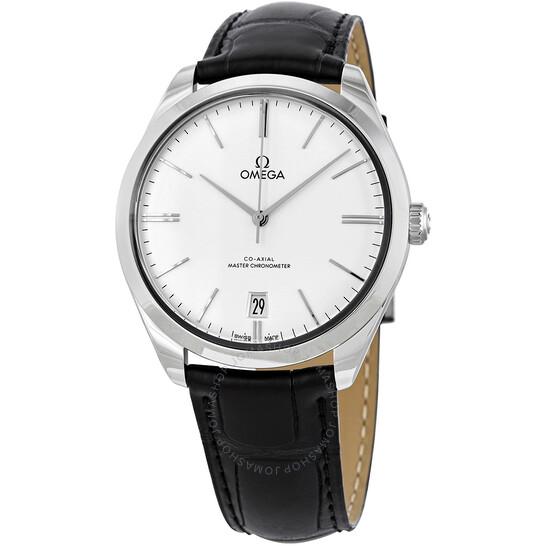 Omega De Ville Silver Dial Black Leather Men's Watch 435.13.40.21.02.001 | Joma Shop