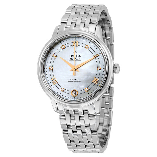 Omega De Ville Mother of Pearl Dial Ladies Watch 424.10.33.20.55.002 | Joma Shop
