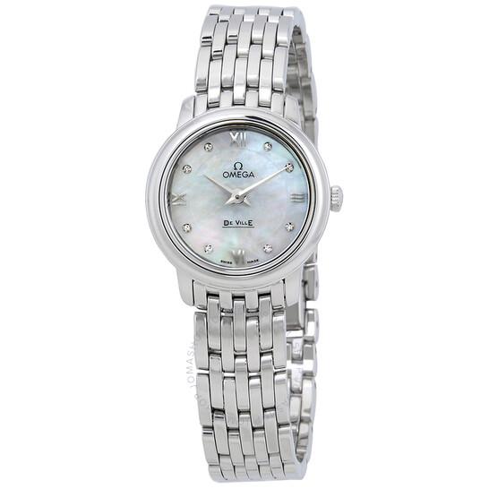 Omega De Ville Prestige Mother of Pearl Dial Ladies Watch 424.10.24.60.55.001   Joma Shop