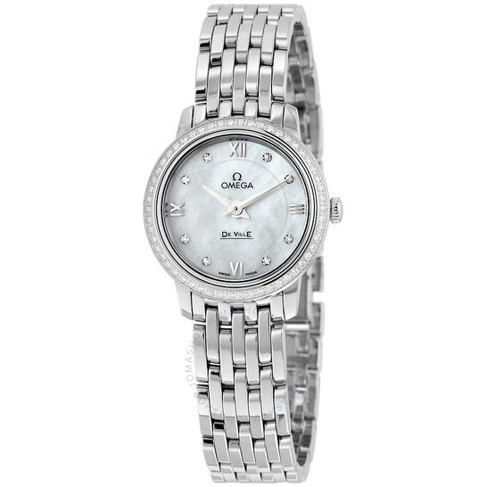 Omega De Ville Prestige Mother of Pearl Dial Stainless Steel Quartz Ladies Watch 424.15.24.60.55.001 | Joma Shop