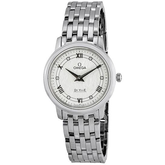 Omega De Ville Prestige White Silvery Diamond Dial Ladies Watch 424.10.27.60.52.002   Joma Shop