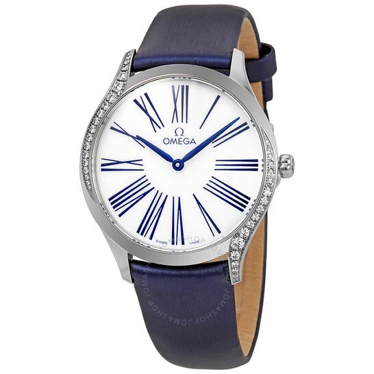 Omega De Ville White Dial Ladies Diamond Watch 428.17.36.60.04.001   Joma Shop