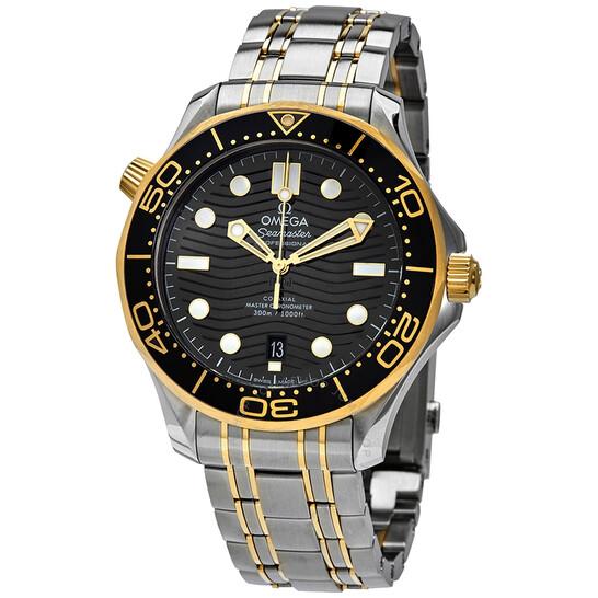 Omega Diver 300M Automatic Chronometer Black Dial Men's Watch 210.20.42.20.01.002   Joma Shop
