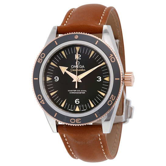 Omega Seamaster 300 Black Dial Brown Leather Men's Watch 233.22.41.21.01.002   Joma Shop