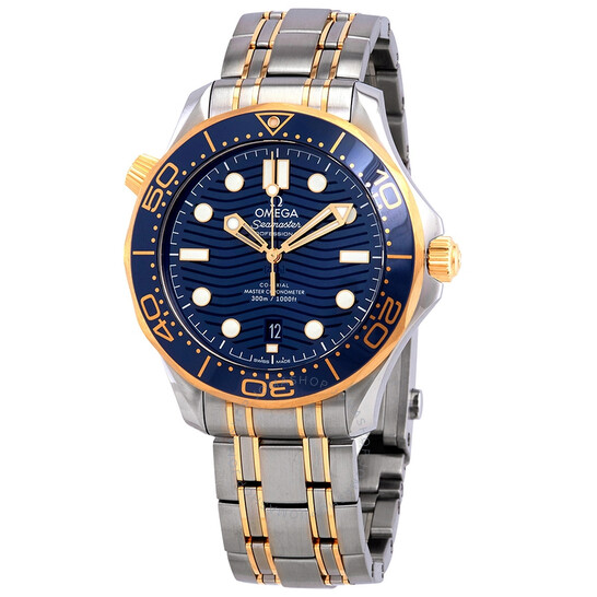 Omega Seamaster Sedna Blue Dial Steel and 18kt Yellow Gold Watch 210.20.42.20.03.001 | Joma Shop