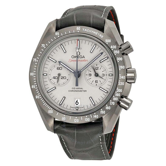 Omega Speedmaster Professional Grey Side of the Moon Chronograph Automatic Sandblasted Platinum Dial Grey Leather Men's Watch 311.93.44.51.99.001   Joma Shop