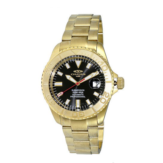 Oniss Automatic Black Dial Men's Watch ON5515-55-GBK | Joma Shop