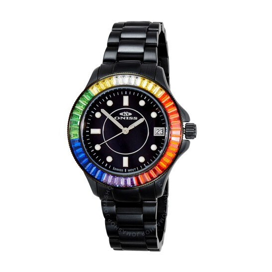 Oniss ON7324 BlackDial Ladies Watch ONJ7324-050BK-RDSC   Joma Shop