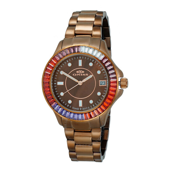 Oniss ON7324 BrownDial Ladies Watch ONJ7324-060BN-BNSC | Joma Shop