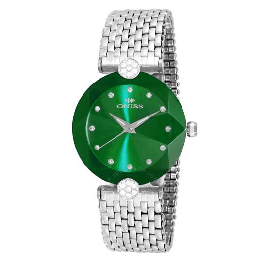 Oniss ON8777S Green Dial Ladies Watch ONJ8777-0LGN   Joma Shop