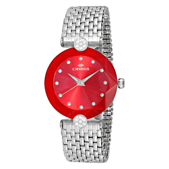 Oniss ON8777S Red Dial Ladies Watch ONJ8777-0LRD   Joma Shop