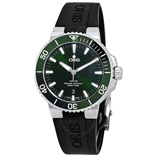 Oris Aquis Date Automatic Green Dial Men's Watch 01 733 7730 4157-07 4 24 64EB | Joma Shop
