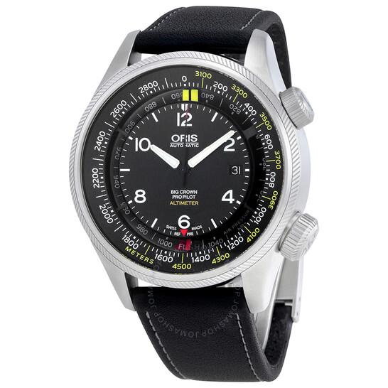 Oris Big Crown Altimeter Automatic Black Dial Men's Watch 733-7705-4164LS   Joma Shop
