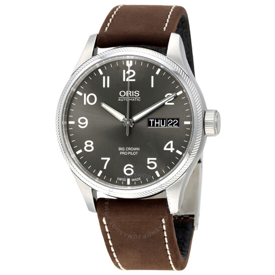Oris Big Crown Pro Pilot Automatic Grey Dial Men's Watch 752-7698-4063BRLS | Joma Shop