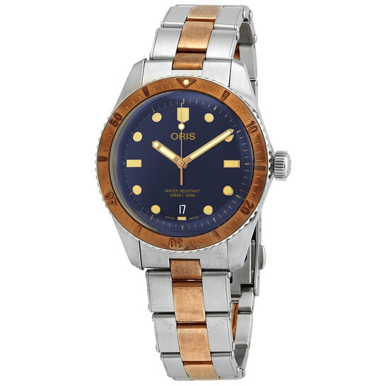 Oris Divers Sixty-Five Automatic Blue Dial Men's Steel and Bronze Watch 01 733 7707 4355-07 8 20 17 | Joma Shop