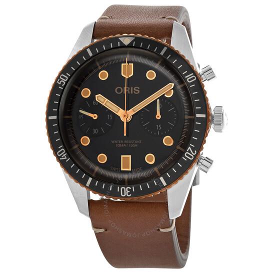 Oris Divers Sixty-Five Chronograph Automatic Black Dial Men's Watch 01 771 7744 4354-07 5 21 45 | Joma Shop