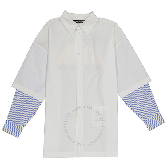 Palm Angels White Double Sleeve Shirt