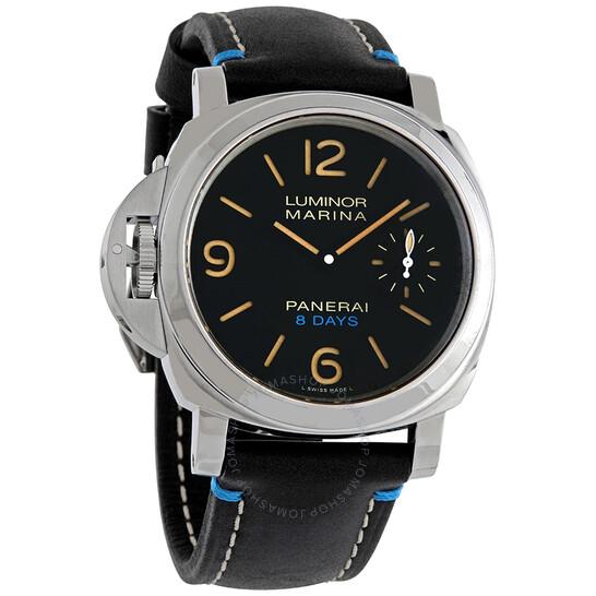Panerai Luminor Left-Handed Hand Wind Black Dial Men's Watch PAM00796 | Joma Shop