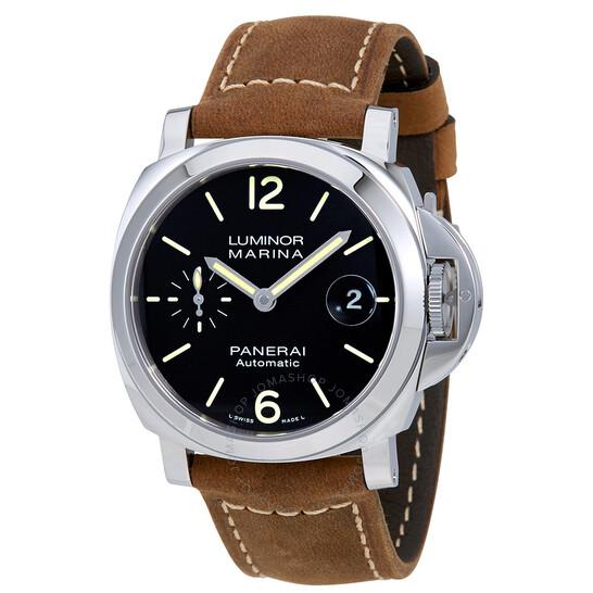 Panerai Luminor Marina Automatic Black Dial Men's Watch PAM01048 | Joma Shop