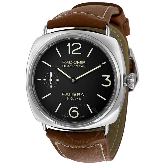 Panerai Radiomir Black Dial Brown Leather Men's Watch PAM00609 | Joma Shop