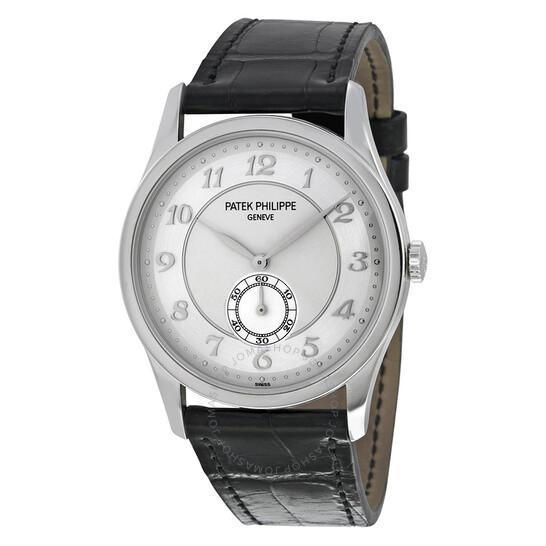 Patek Philippe Calatrava Automatic Silver Grey Dial Platinum Men's Watch 5196P-001 | Joma Shop