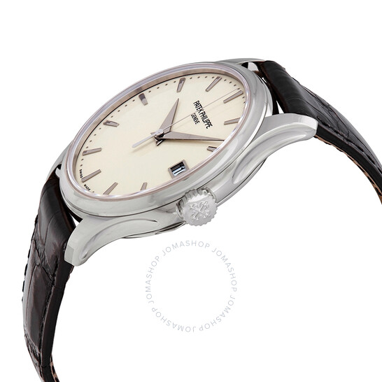 Patek Philippe Calatrava Mechanical Ivory Dial 18kt White Gold Men S Watch 5227g 001 5227g 001 Patek Philippe Calatrava Jomashop