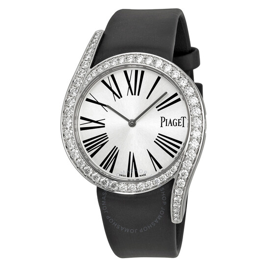 Piaget Limelight Gala Silver Dial Black Satin Strap Ladies Watch G0A39166   Joma Shop