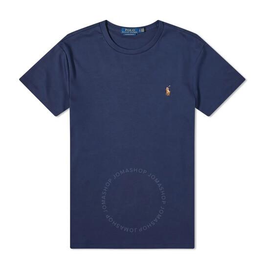 Polo Ralph Lauren Blue Cotton Custom Fit T-Shirt, Brand Size Large | Joma Shop