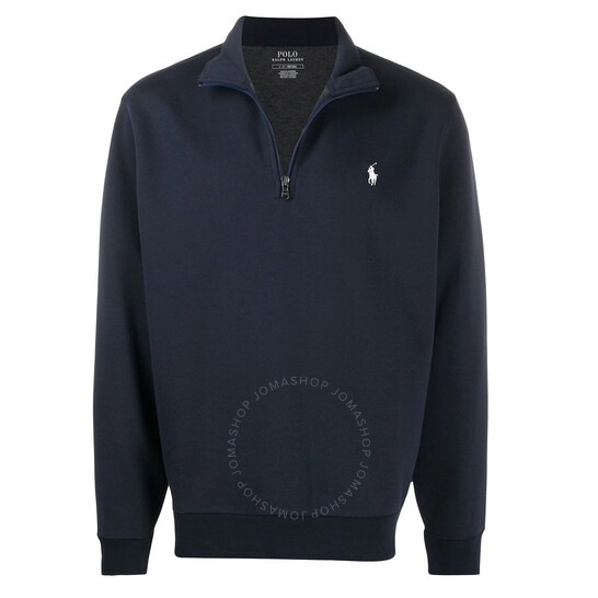 Polo Ralph Lauren Dark Blue Double-knit Half-zip Sweatshirt, Brand Size Medium | Joma Shop
