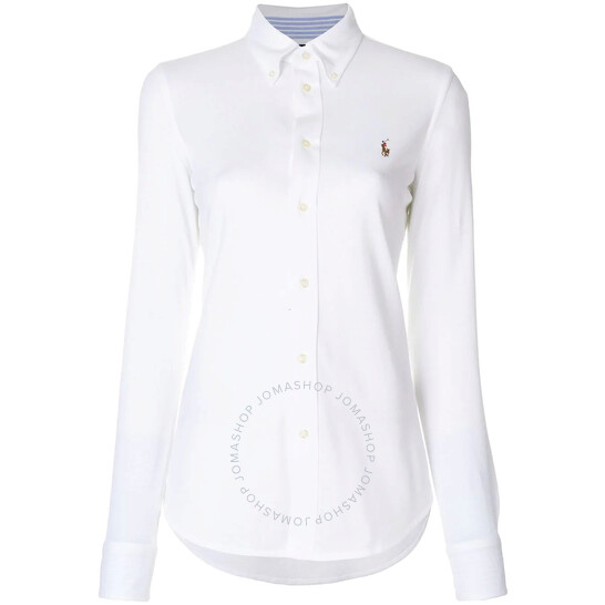 Polo Ralph Lauren Ladies Long Sleeve Logo Embroidered Oxford Shirt, Brand Size Large | Joma Shop