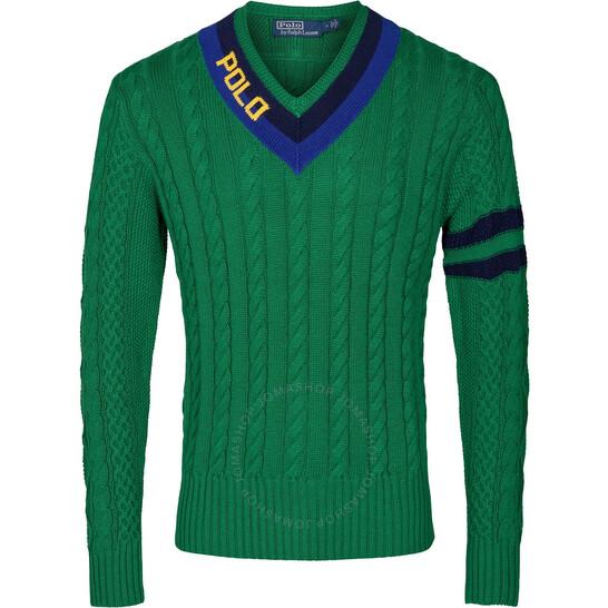 Polo Ralph Lauren Men's Long-Sleeve V-neck Cricket Sweater, Brand Size Small   Joma Shop
