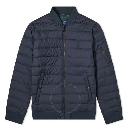 Polo Ralph Lauren Men's Padded Down Filled Jacket in Navy, Brand Size Small | Joma Shop