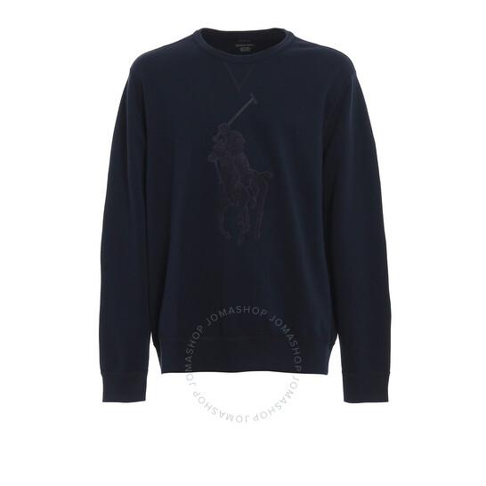 Polo Ralph Lauren Men's Blue Terry Maxi Logo Sweatshirt, Brand Size X-Small | Joma Shop