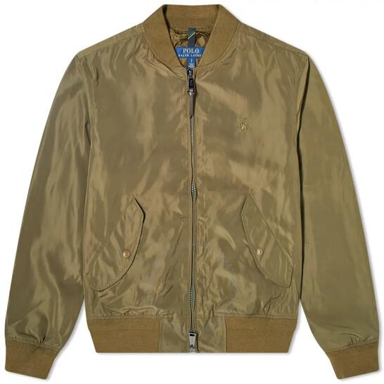 Polo Ralph Lauren Men's Green Bomber Jacket, Brand Size Large   Joma Shop
