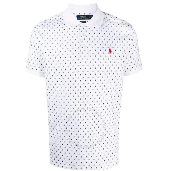 Polo Ralph Lauren Men's Slim Short-sleeved Printed Polo Shirt